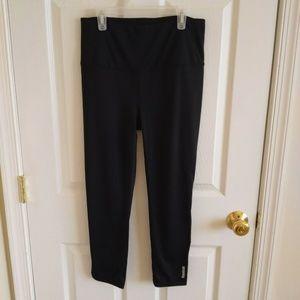 Reebok Cropped Leggings Women's M Black Yoga Pants